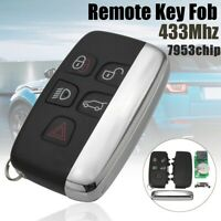 5 Buttons 433Mhz Chip Remote Key Fob Kit For Land Rover Range Rover Sport Evoque