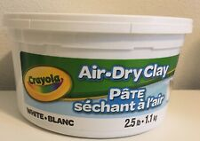 CRAYOLA  AIR DRY CLAY 2.5 LBS WHITE  Brand NEW IN TUB FACTORY SEALED