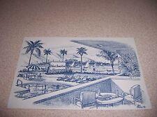 1950s WEST BEACH INN SANTA BARBARA CALIFORNIA CA. ART POSTCARD by BOB BATES