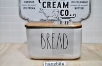 Rae Dunn BREAD Box Ceramic Cellar Wood Lid NEW '21