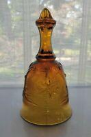 Tiara Indiana Glass Amber Sandwich Dinner Bell