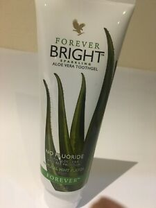 Forever living tooth gel no flouride natural mint flavour contains aloevera