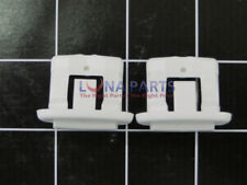 GE PACK OF 2 WD12X10304 WD12X344 Rack Slide End Cap White AP4484666 PS2370502