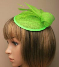 Lime Green Comb Feather Hat Fascinator Ladies Day Royal Ascot Weddings