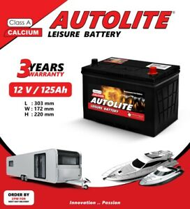 Autolite 125AH LEISURE BATTERY ULTRA DEEP CYCLE FOR CARAVAN/MOTORHOME/BOAT/SOLAR