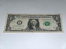 2013 $1 Dollar Bill US Note Date Year 2014 Pair 3s 33592014 Fancy Serial Number