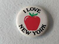 "1 1/2"" inch pinback button badge New York City I Love New York Apple Manhattan"