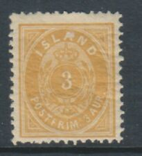 Iceland - 1897, 3a Yellow stamp - m/m - SG 26