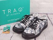TRAQ by Alegria Lace-Up Sneakers w/App & Bluetooth Sneaq - Chillax Black Floral