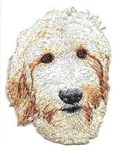 "2"" x 2 1/2"" Goldendoodle Dog Breed Portrait Embroidered Patch"