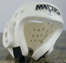 Macho Martial Arts White Sparring Protective Foam Head Gear w/strap Medium Youth