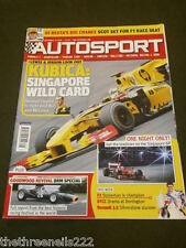 AUTOSPORT - ONE NIGHT ONLY SINGAPORE GP - SEPT 23 2010