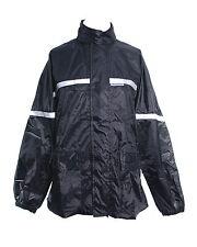 RK Sports MOTORCYCLE 100% WATERPROOF RAIN MOTORBIKE BLACK OVER NYLON JACKET