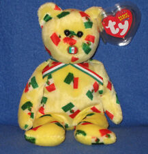 TY PINATA the FLAG NOSE BEAR BEANIE BABY - MINT with MINT TAGS