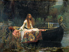 John William Waterhouse The Lady of Shalott Oil Painting Canvas Print