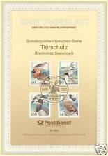 FRG 1991: Threatened Sea birds! First day sheet of no. 1539-1542! Stamp Bonn!