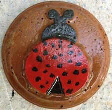 Ladybug 5 plaque, stepping stone, plastic mold, concrete mold, plaster