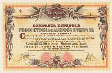 SPAIN TEXTILE CO. stock certificate MADRID