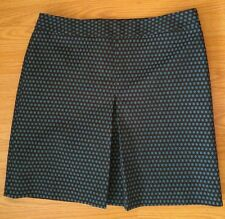 Ann Taylor loft skirt size 10 above knee black and blue print business