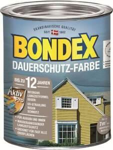 BONDEX Dauerschutz Farbe Außen Holzfarbe, 0,75 l, hochdeckend, wetterschutz