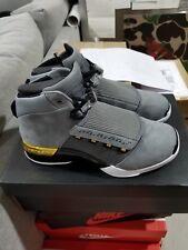 Air Jordan 17 Retro Trophy Room RM COOL GREY/GOLD-BLACK AH7963 023 Nike Size 9