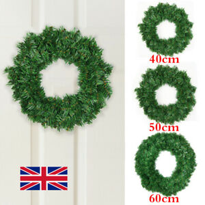 Wall Hanging Christmas Wreath Xmas Party Door Home Tree Garland Ornament Decor W