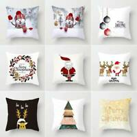 Merry Christmas Gift Throw Pillow Case Cover Cushion Sofa Car Home Decorations
