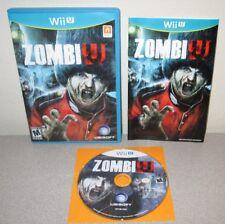 ZOMBIU Nintendo Wii U First Person Survival Horror Complete w/Manual Zombie U