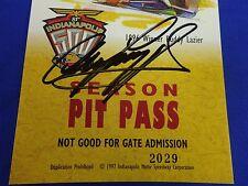 Winner Arie Luyendyk Autograph 1997 Indianapolis 500 Season Pit Pass