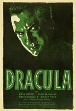 DRACULA, Vintage Vampire Horror Movies Giclee Canvas Print 20x30