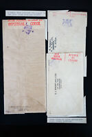 South Africa 3x Stamped Censored Covers