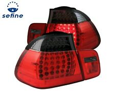 ANZO L.E.D TAIL LIGHTS RED/SMOKE 2PC FOR 02-05 BMW 3 SERIES E46 4DOOR #321123