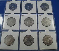 2001 Australia 20 cent Coin Collection -  FEDERATION Complete Set of 9 States
