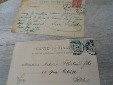 2 Anciennes cartes postales ,décor bébés ,  bébé avocat ....