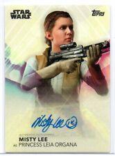 MISTY LEE as Princess Leia Organa / Women of Star Wars Autograph Card A-ML