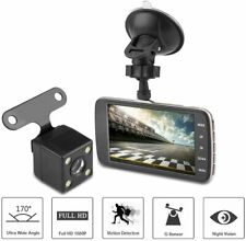 "Dash Cam, 4"" IPS Dual Lens Camera HD 1080P 170° Car DVR Video Dash Cam FrontRear"
