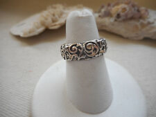 Relios Carolyn Pollack Sterling Swirling Vines Band Ring   RE5029