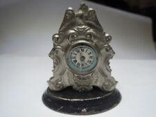 Nachlass: alte wunderschöne Blech  Kommodenuhr  um 1900