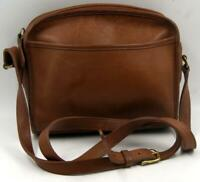 Vintage Coach E7M-9087 Brown Leather Women's Shoulder Crossbody Messenger Bag