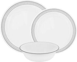 Dinnerware Corelle Mystic Gray 12pc Dinner Set