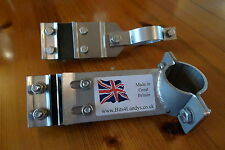 Full Kit - Exhaust Mountings Stainless Land Rover Series 2 2a 3 SWB 88 RHD 4 cyl
