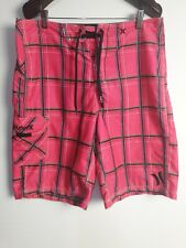 HURLEY Men's Check Board Shorts Size 32