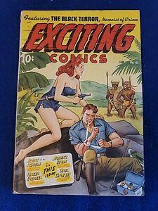 EXCITING COMICS #65, Schomburg-c, VG Cond., Better (1949)