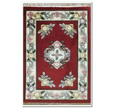 YILONG 2'x3' Red Hand Knotted Silk Rug Home Decor Hand craft Carpet