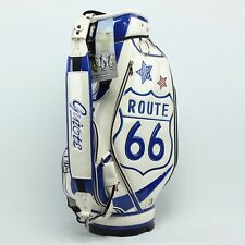 Route 66 USA 10.5 Tour Staff Golf Bag Padded Carry Strap & Rain Hood Included