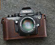 Genuine Leather Half Case for Nikon F3 (Brown) - BRAND NEW