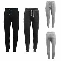 New Men's Unisex Fleece Lined Sweat Track Pants Casual Trackies Suit Slim Cuffed