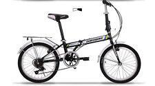 Brand New Cyber 20 in 7 sp Shimano Black&White  Folding bike+Rack+Basket, more