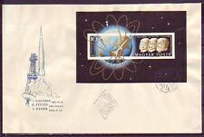 Ungarn 1962.03.29  FDC /  MiNr. Block 33B   J. Gagarin, G. Titov und J. Glenn