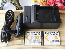 2X Battery + Charger for Sony Cyber-shot DSC-W330, DSC-W530,DSC-W630 Camera